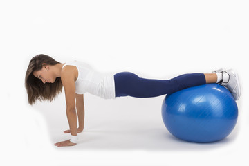 Push Up on an Exercise Ball