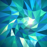 Bright abstract triangles blue vector background