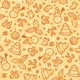 Cookies colors christmas vector seamless pattern