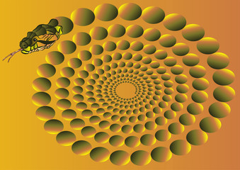 optical illusion with a snake