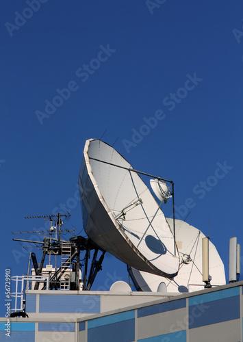 Plexiglas Parabolic antenna satellite communications