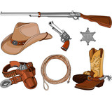 Cowboy objects set