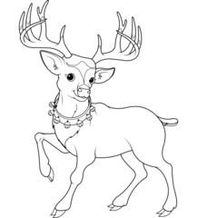 Reindeer Rudolf coloring page