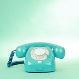 Fototapety Retro mint green telephone photo with empty place for text