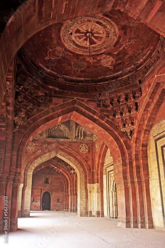 Spoed canvasdoek 2cm dik Delhi Qila-i-kuna Mosque, Purana Qila, New Delhi