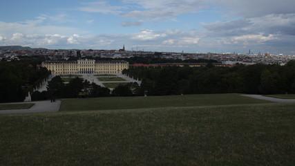 Schönbrunn Palace and Vienna cityscape