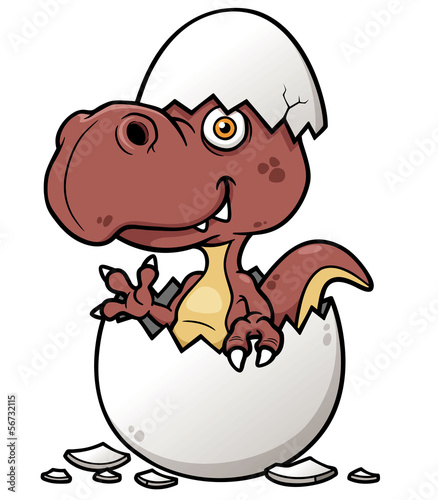 Vector illustration of Cartoon Dinosaur baby
