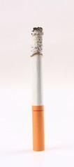The burning cigarette