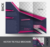 Fototapety Tri-fold Fashion Brochure Design Vector Illustartion.