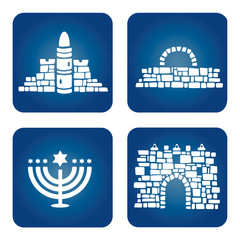 Jerusalem Old City Icon Set