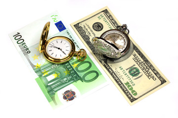 exact watch,bill euro,dollar as symbol financial trade