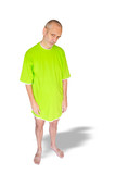 Tired Man in Green Nightdress