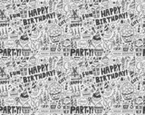 Seamless Doodle Birthday party pattern background