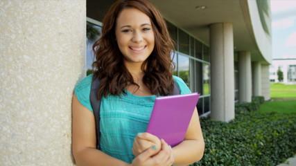 Portrait Young Caucasian Female College Student