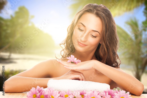 Spa young woman