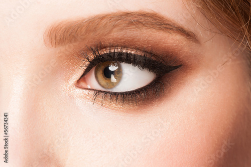 Eye with makeup