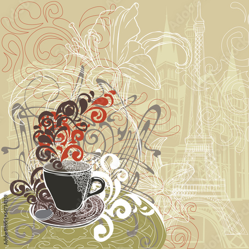 coffee in a Paris cafe