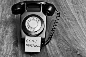 Good morning telephone call