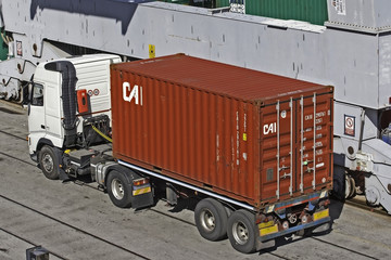 Camion porta container