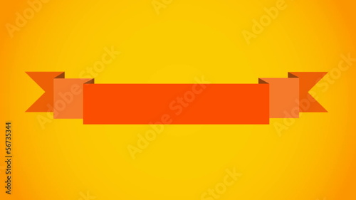 Abstract vector banner on yellow background.