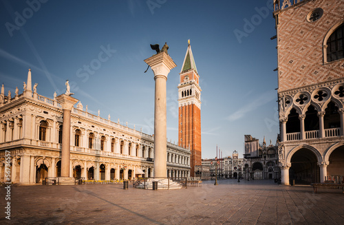 Piazza San Marco in the morning. Venice. Italy.