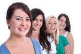 Girl friends - Gruppe junge Frauen isoliert - Studenten