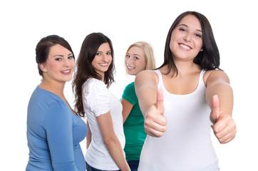 Freundinnen - Gruppe von Frauen oder Mädchen isoliert