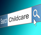 Childcare search concept. poster