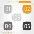 orange rounded square buttons with numbers