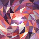 Bright abstract triangles grid vector background