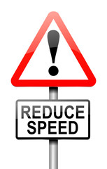 Reduce speed concept.