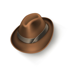 Hat brown icon