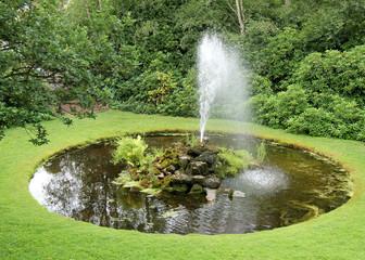 A Pretty Ornamental Fountain and Garden Pond.