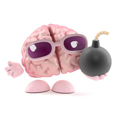Brain holds a bomb