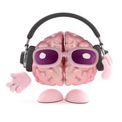 Brain loves to listen on his headphones