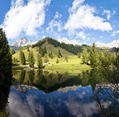 Little alpine lake in Austria