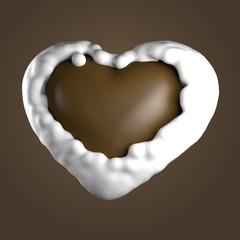 Schokoladenherz, Milch, Schokolade
