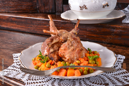 Roast rabbit