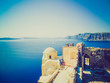Oia Ia in Greece retro look