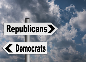 US politics - Republicans and Democrats going different directio