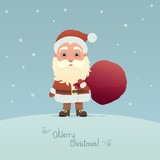 Santa Claus with bag