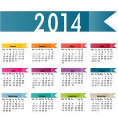 Kalender 2014 deutsch
