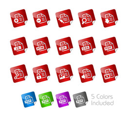 Documents Stickers 1 - The Vector file includes 5 color versions
