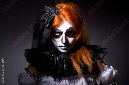 Woman satana in halloween concept