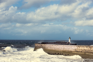 Lighthouse At Whitehaven