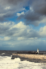 Lighthouse At Whitehaven
