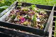 canvas print picture - Compost bin
