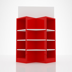 Color red shelf design