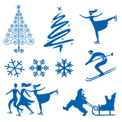 Winter christmas design elements