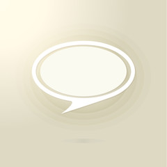 Speech bubble for your message